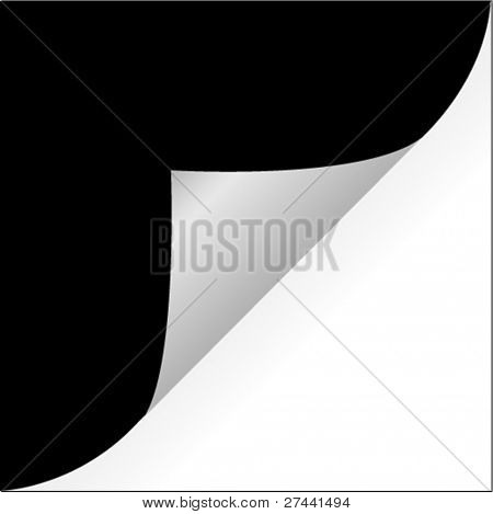 Paper page curl vector