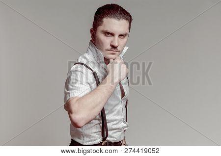 Gangsta Italian Man Posing With