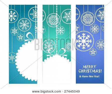 Satz von vektor vertikal weihnachten Banner. bereit für einen text