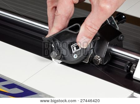 Close Up Of Picture Mat Cutter Blade