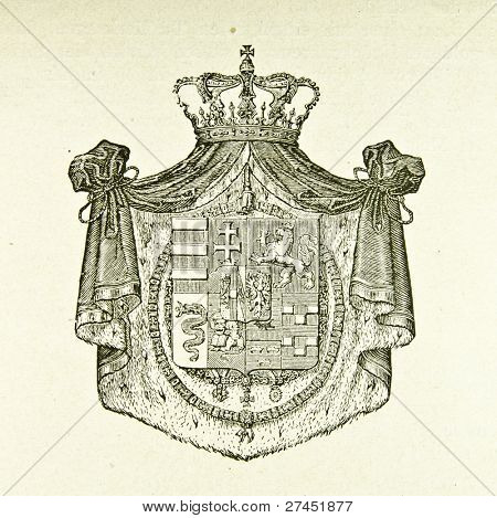 Coat of arms of Duchy of Parma. Illustration by Alwin Zschiesche, published on