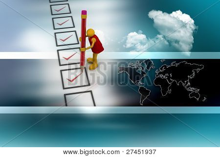 man with checklist