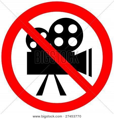 "Forbidding sign ""No Video"""