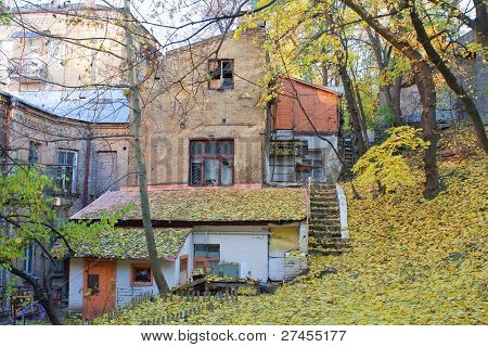 Autumn, Old House. Kreschatik Street, Kyiv
