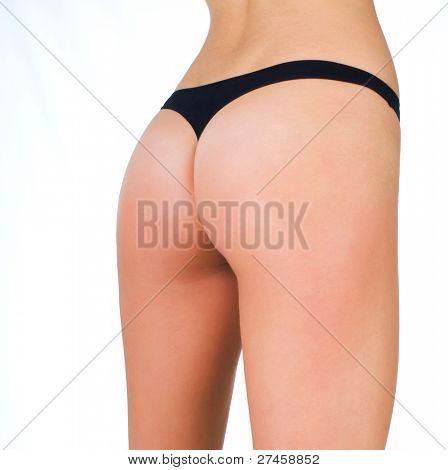 Woman buttocks in lingerie