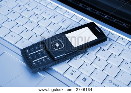 Laptop And Mobile Phone