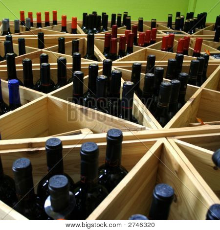 Anaqueles de vino