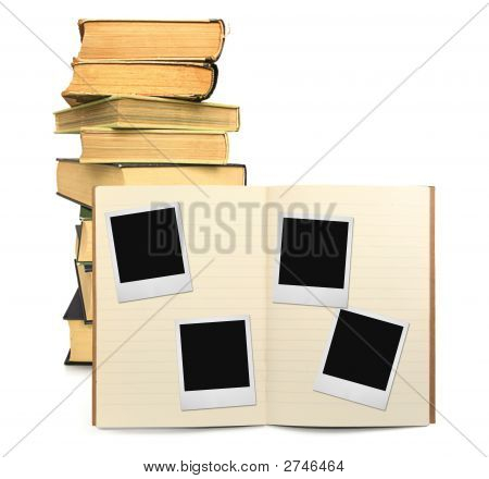 Lined Exercise Book And Photo Frames #2