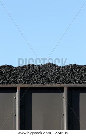 Carvão em vagão de carga