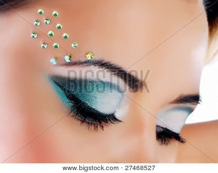 beautiful woman with artistic make-up