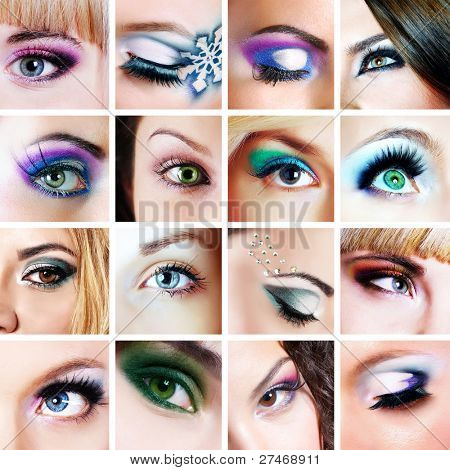 Collage de ojos closeup