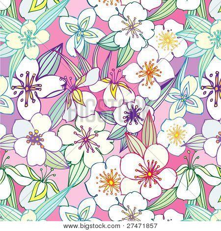 seamless pattern with jasmine