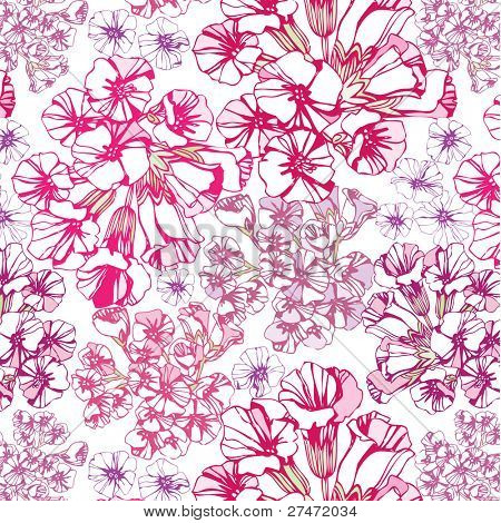 seamless pattern with small pretty pink flowers
