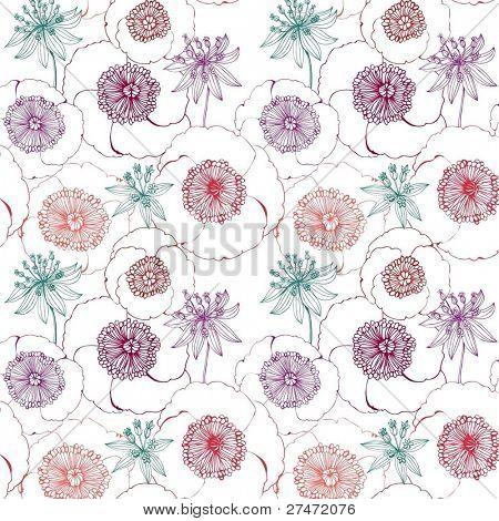 fondo floral transparente con amapola