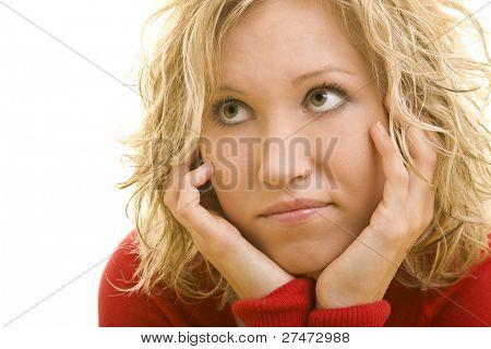 Porträt einer jungen blonden Frau