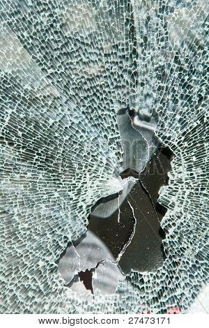 Broken Safety Glass