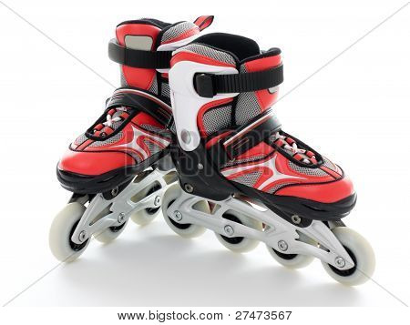 Roller Skates On A White Background.