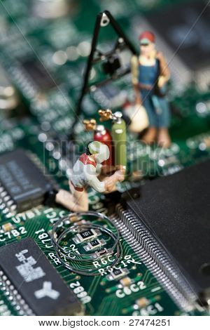 Reparatur von elektronischen Schaltungen