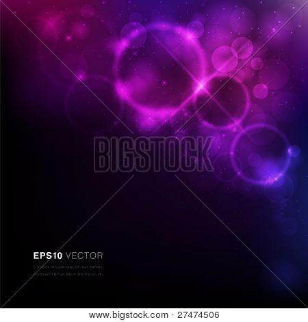 Vektor eps10 Abbildung von einem Nebel mit Sternen und lebendige Licht