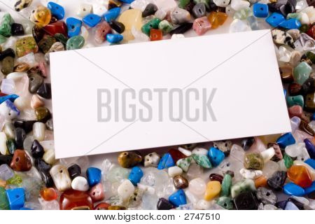 Business Card On Semi-Precious Stones