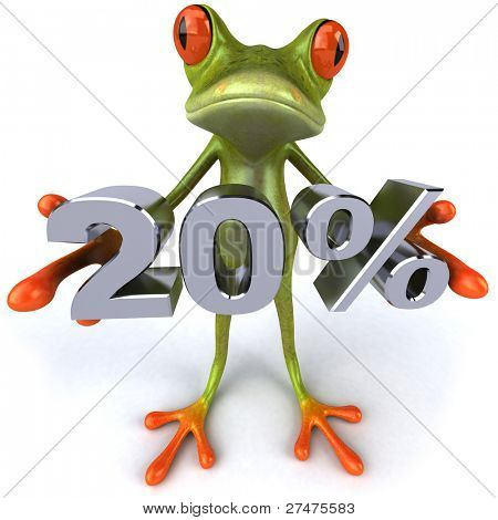 Frog and 20%