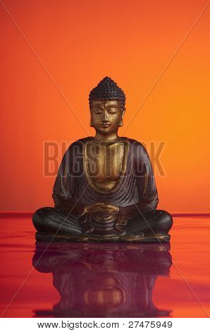 buddah on red