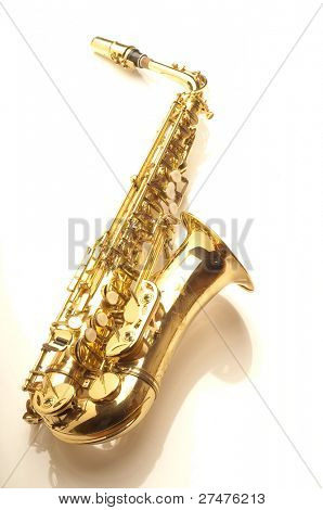 alto sax on white