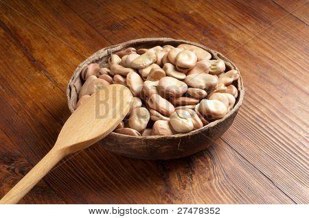 bowl of dried Broad Bean