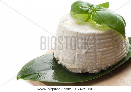 ricotta with basil