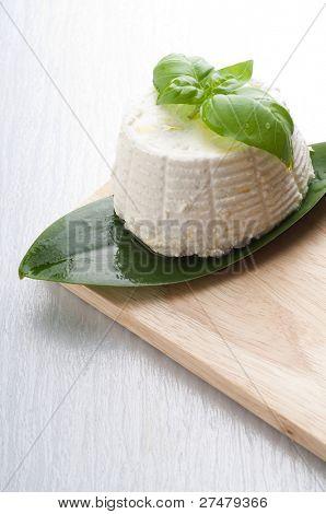 ricotta with basil