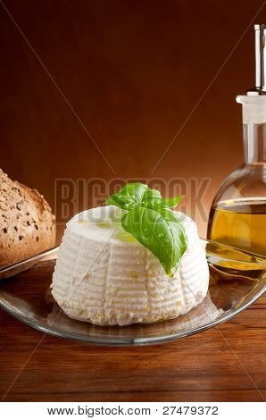 ricotta with bread and olive oil