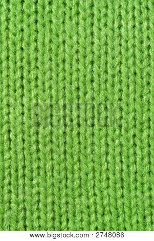Lana de punto verde Close Up