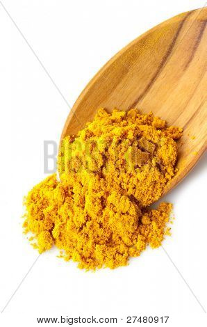 turmeric over the spoon