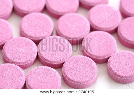 Pink Antacid Tablets