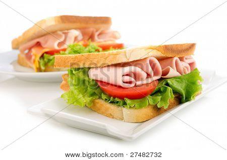 sanduíche de Peru tomate e alface