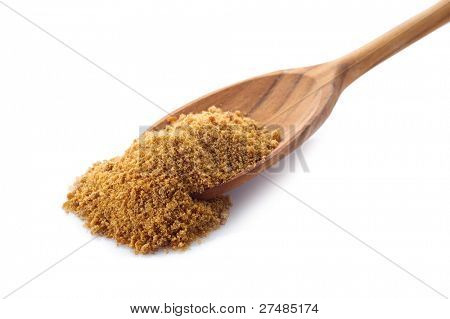 brown sugar over spoon