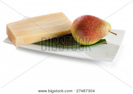 cheese and pear