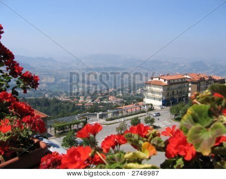View To Republic Of San Marino