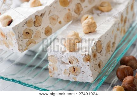 nougat with ingredients