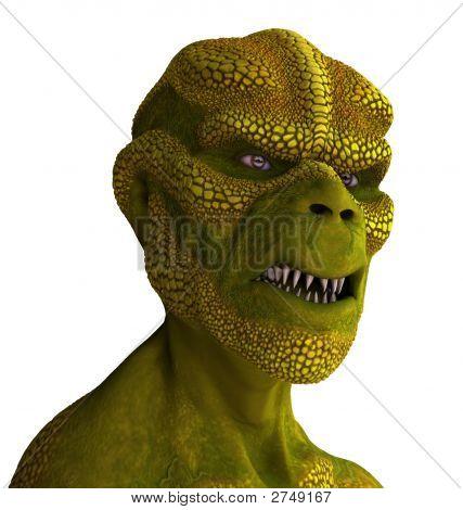 Reptilian Alien Portrait