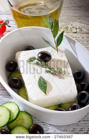 feta  traditional greek cheese