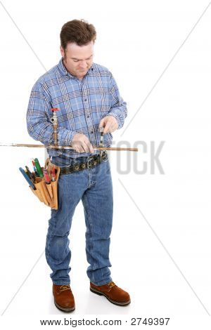 Plumber Working Full Body