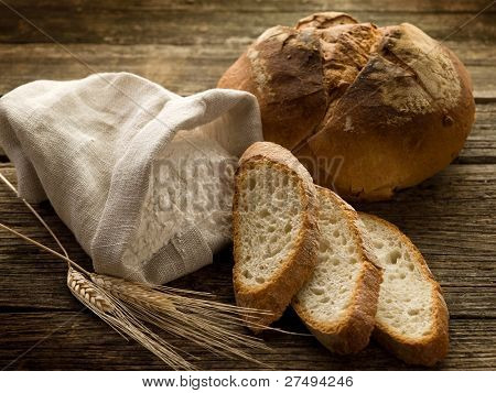 bread ear and flour