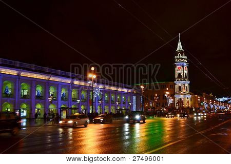 Night of St. Petersburg, Nevsky Prospekt