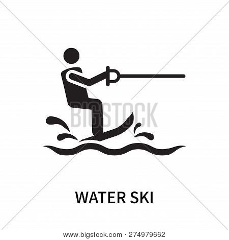poster of Water Ski Icon Isolated On White Background. Water Ski Icon Simple Sign. Water Ski Icon Trendy And M