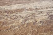 Top View From Masada Fortress To The Judaean Desert And The Dead Sea. The Desert Land Of Israel. Bac poster