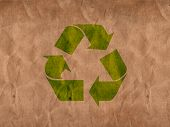 picture of recycled paper  - illustration of a recycle paper with signs and cutter - JPG