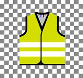 Yellow Vest, As A Symbol Of Protests In France Against Rising Fuel Prices. Yellow Jacket Revolution. poster
