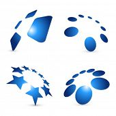 foto of star shape  - Set of vector design elements - JPG