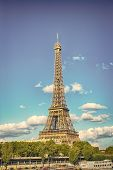 . Eifel Tower Is The Symbol Of Paris Romantic And Love Eiffel Tower In Paris On Beautiful Autumn Eve poster